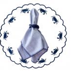 Imper siri azul marinho fundo branco