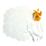 Linho monograma branco fundo branco